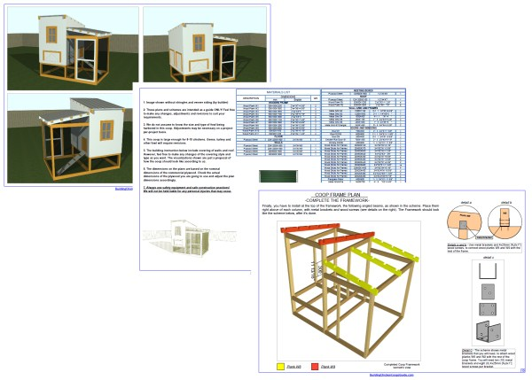 Chicken Coop Design Drawings
